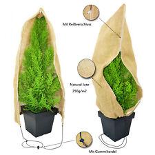 Jute Pflanzenschutz Sack mit Reißverschluss Jutesack winterschutz für Pflanzen