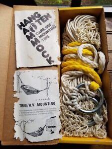 Vintage Double mesh Hammock 'Comet for HANG TEN' Double Hooks Included box