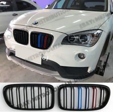 BMW E84,2012-15,dual slat,X1 M SPORT/PERFORMANCE look grill,BLACK+m 3/tri-colour