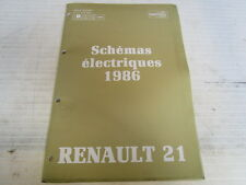 SCHEMAS ELECTRQUES MILLESIME 1986 RENAULT R21  REF 7711079864