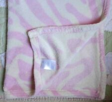 BeanSprout Polyester Fluffy Fleece Pink & White Zebra Pattern Baby Girl Blanket