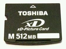 RARE Genuine TOSHIBA M 512 MB xD Picture Memory Card XD512MDA For OLYMPUS & FUJI