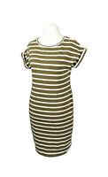 Jigsaw Green Stripe Nautical Cotton Holiday Jersey Dress Size Small