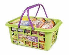Casdon Childrens Shopping Basket With Play Groceries Playset Toy