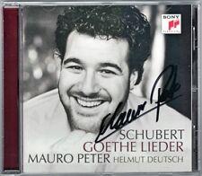 Mauro PETER Signed SCHUBERT Goethe Lieder Gesänge des Harfners Gaymed CD DEUTSCH
