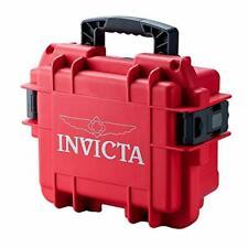 INVICTA 3 SLOT RED DIVE IMPACT RESISTANT COLLECTORS STORAGE CASE BOX