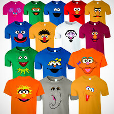 Tshirts/Sesame Street Characters Faces Halloween Funny Birthday Christmas Family