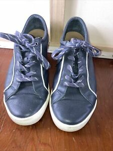 DESIGNER ZIERA DIEGO NAVY WOMENS SHOES SNEAKERS COMFORT PLUS SIZE 38 FF