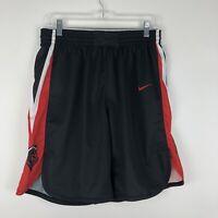 Nike Men's Rutgers Scarlet Knights Elite Basketball Short Large Black 867772 NWT