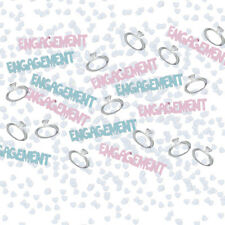 2 PACKS ENGAGEMENT CONFETTI / TABLE SPRINKLES PINK AND BLUE TABLE DECORATIONS