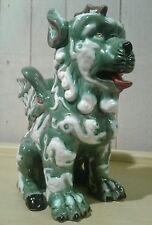 Large vintage Chinese/Asian ceramic winged foo dog/lion figural vase