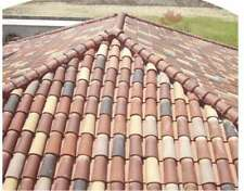 S type Clay Roof Tile Roofing Spanish Rustic Look Terracotta RED(10 pcs)-limaxin