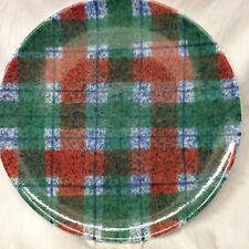 Tartan Plaid Christmas Platter Dept 56 Italy Red Green DEPARTMENT HOLIDAY