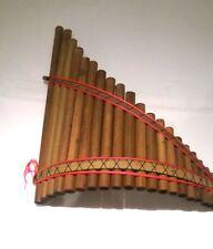 Véritable grand andine SISCA incurvé pan tuyaux / tuyaux 20 flûte