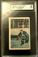 1952-53 Parkhurst Tim Horton ROOKIE- a very-rare legendary card - Maple Leafs!