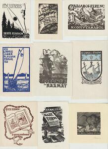 """17 Ex libris Exlibris """"Ships"""" by v. artist"""