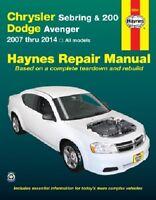 Chrysler Sebring, 200 & Dodge Avenger Haynes Repair Manual (2007-2017)