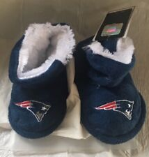 New England Patriots Toddler Boot Bootie Slippers NEW - Free U.S.A. Shipping