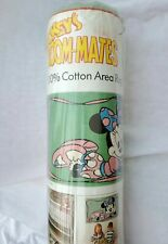 Minnie Mouse Mickeys Room Mates Couristan Cotton Area Rug Green Pink Disney New