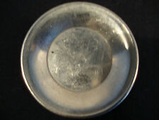 Vintage Silver Metal Kitchen Serving Tray Trey Dinner Dining Turkish Coffee Roun