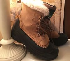 Itasca Mens Snow Boots Thermolite Insulation Our Door Buff Size 9