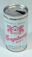 Vintage Kingsbury Beer 12oz Crimped Steel Beer Can Wisconsin's Original