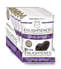 Enlightened Plant Protein Gluten Free Roasted Broad (Fava) Bean Snack, Cocoa Dus