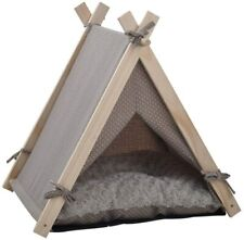 Luckyermore Portable Pet Teepee Tent Dog Cat Bed Kennel Puppy Kitten House