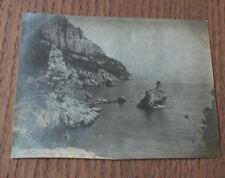 Photographie ancienne 1905 Marseille Calanque Sugiton Ile de la Galère