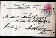 """BRUCK IM PINZGAU / SALZBURG (AUTRICHE) SCIERIE """"HERMANN & MULLER"""" en 1907"""
