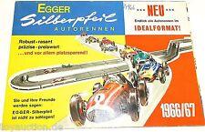 Egger Silberpfeil Autorennen Katalog / Neuheitenblatt 1966 / 67   å