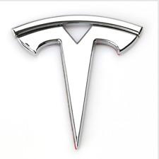 Chrome Metal Tesla Logo Car Door Fender Trunk Emblem Badge Fit Model X S 3