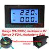 Voltmetro e Amperometro AC digitale display LCD TA separato 80V - 300V 50A nero
