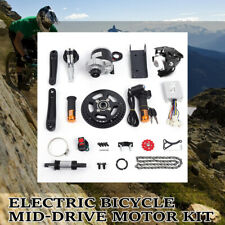 Electric Bicycle Mid-Drive Motor Conversion Kit Refit E-bike Parts 24V/36V/48V