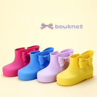 Boys Girls Children Kids Cute Rain Boots Rubber Wellies Shoes Size 8-10 Gifts