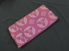 Japanese Kimono Yukata Hanhaba Obi PURPLE Reversible (HO3479)
