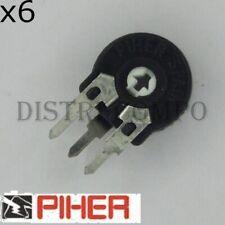 Potentiomètre 500ohm vertical ajustable 10mm PT10 Piher (lot de 6)