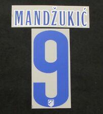 Original Atletico Madrid Mandzukic Spieler-Player-Flock für NIKE HOME Trikot NEU