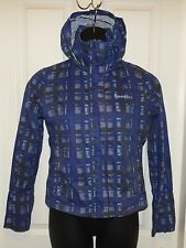 Women's Bench purple blue geometric hooded zip-up jacket size Large