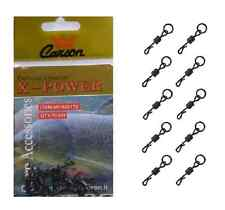 10 girelle sgancio rapido con anello pesca carpfishing terminale montatura carpa
