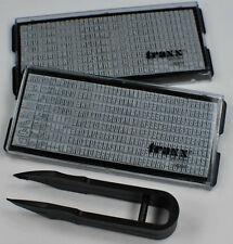 Ersatztextplatte  2xTextplatte Stempel zum selbersetzen (3+4mm) Einzelbuchstaben