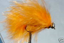 10x Mouche  peche Streamer Catwiskers Orange H10