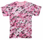 Pink Digital Camo T-Shirt - Pink Camouflage Tee Shirt XS - 3XL New Pink Dig Camo