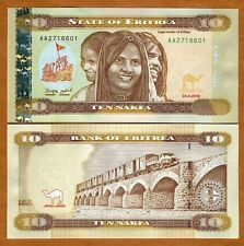 Eritrea, 10 Nakfa, 2012 (2014),  P-New, AA-Prefix, UNC, Redesigned > Children