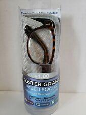 New Foster Grant Multi-Focus Advanced Reading Glasses, Full Frame, +1.00