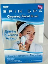 Spin Spa Cleansing Facial Brush with 2 Cleaning Attachments new free shipping