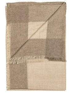 Cesare Attolini Scarf IN Beige With Violet Edge from Cashmere RegEUR490