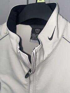 Nike Golf Mens Sleeveless Windbreaker Vest Size Large Clima Fit Golf Beige