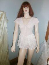 Vtg. Vandemere Pink Lacey Short Nightie- Medium