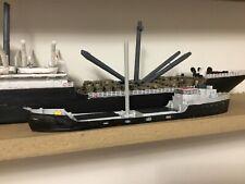 Z Scale Waterline Coastal Freighter ship model 130 feet 3 d print Unpainted.